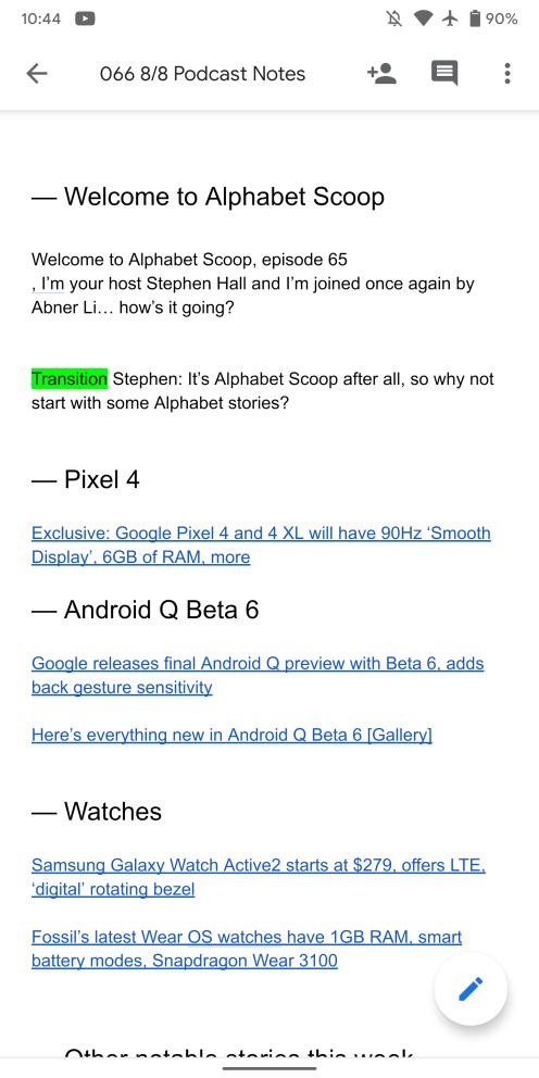 Google Material Theme Docs