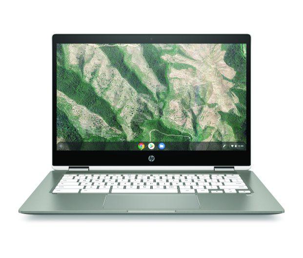 HP Chromebook x360 14b_MineralSilver_CeramicWhite_Front