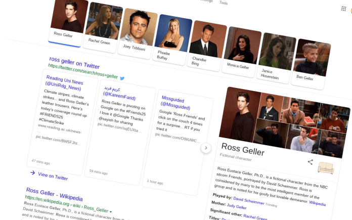 friends google easter egg ross pivot