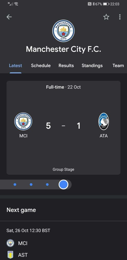Google News Champions League Android