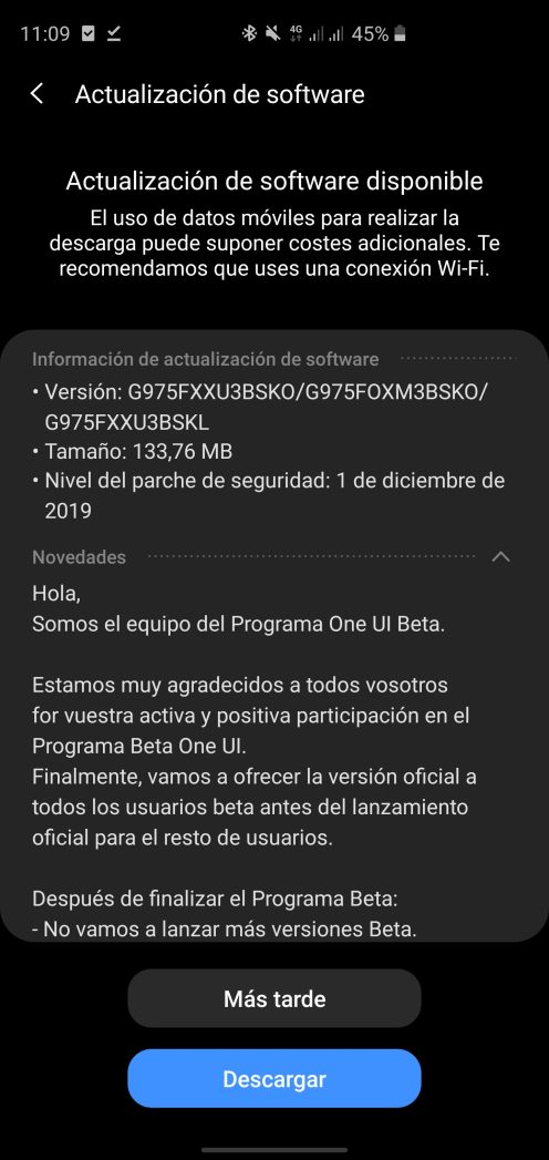 s10 android 10 patch Spain