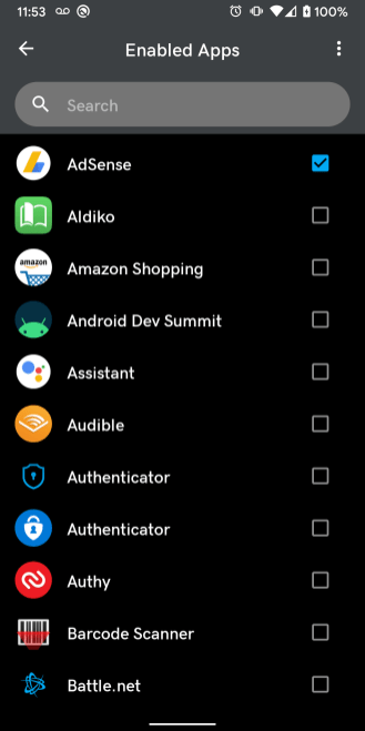 Android 10 DarQ Force Dark enabled apps