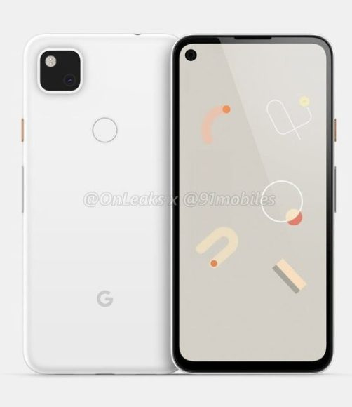 google pixel 4a leaked design