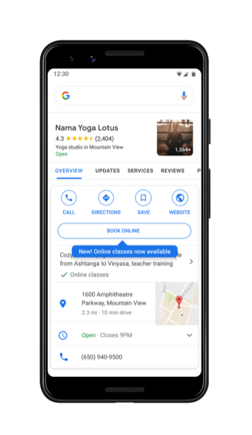 google-maps-online-booking