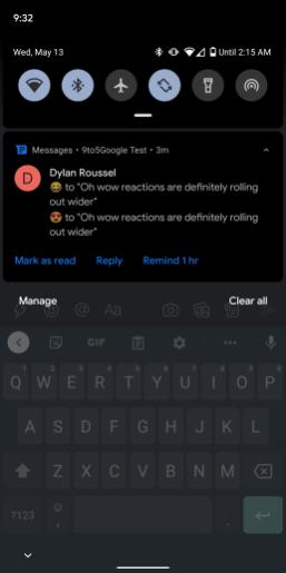 google-messages-rcs-reactions-notification