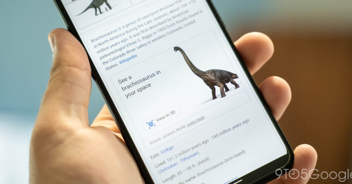 Google adds 3D dinosaurs to Search - 9to5Google