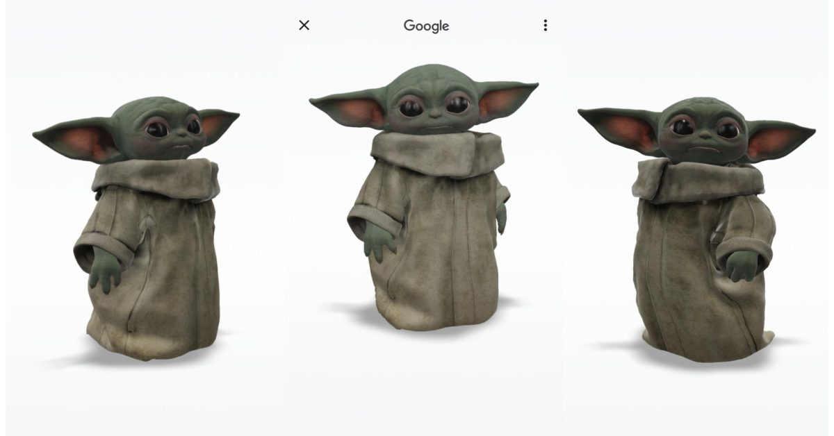 Grogu from 'The Mandalorian' is Google's latest 3D animal - 9to5Google