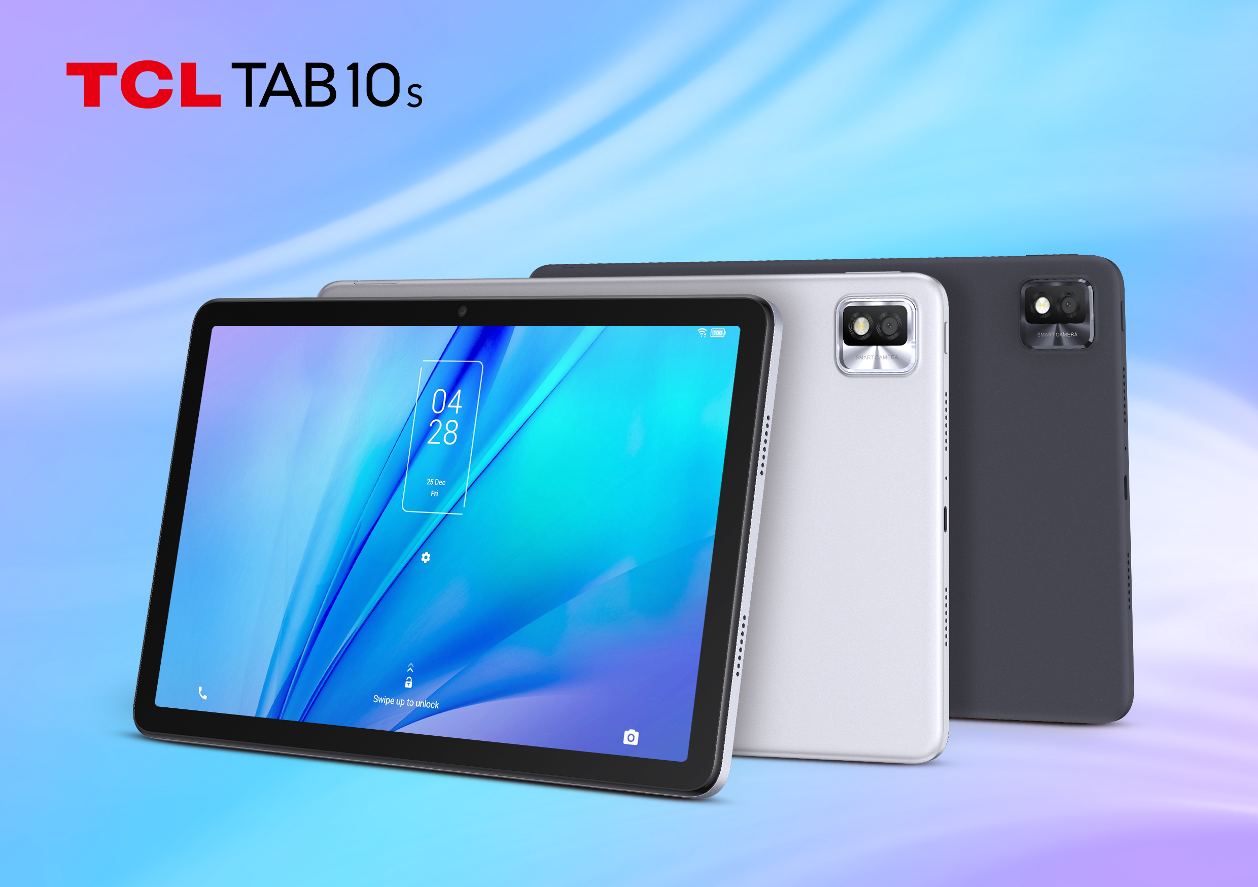 TCL TAB 10S Android tablet in Silver and Dark Grey colorways