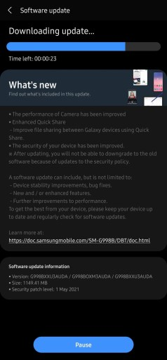 samsung may 2021 update