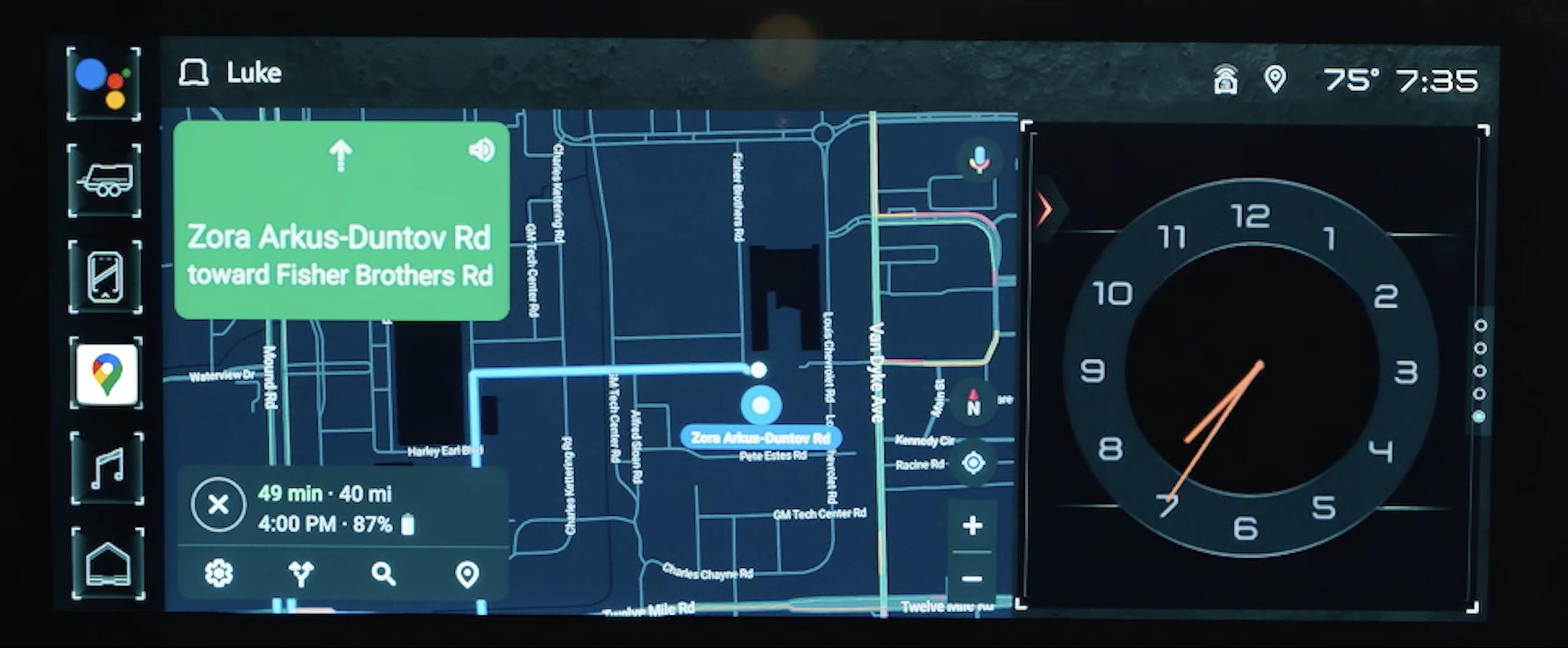 Hummer EV Android Automotive