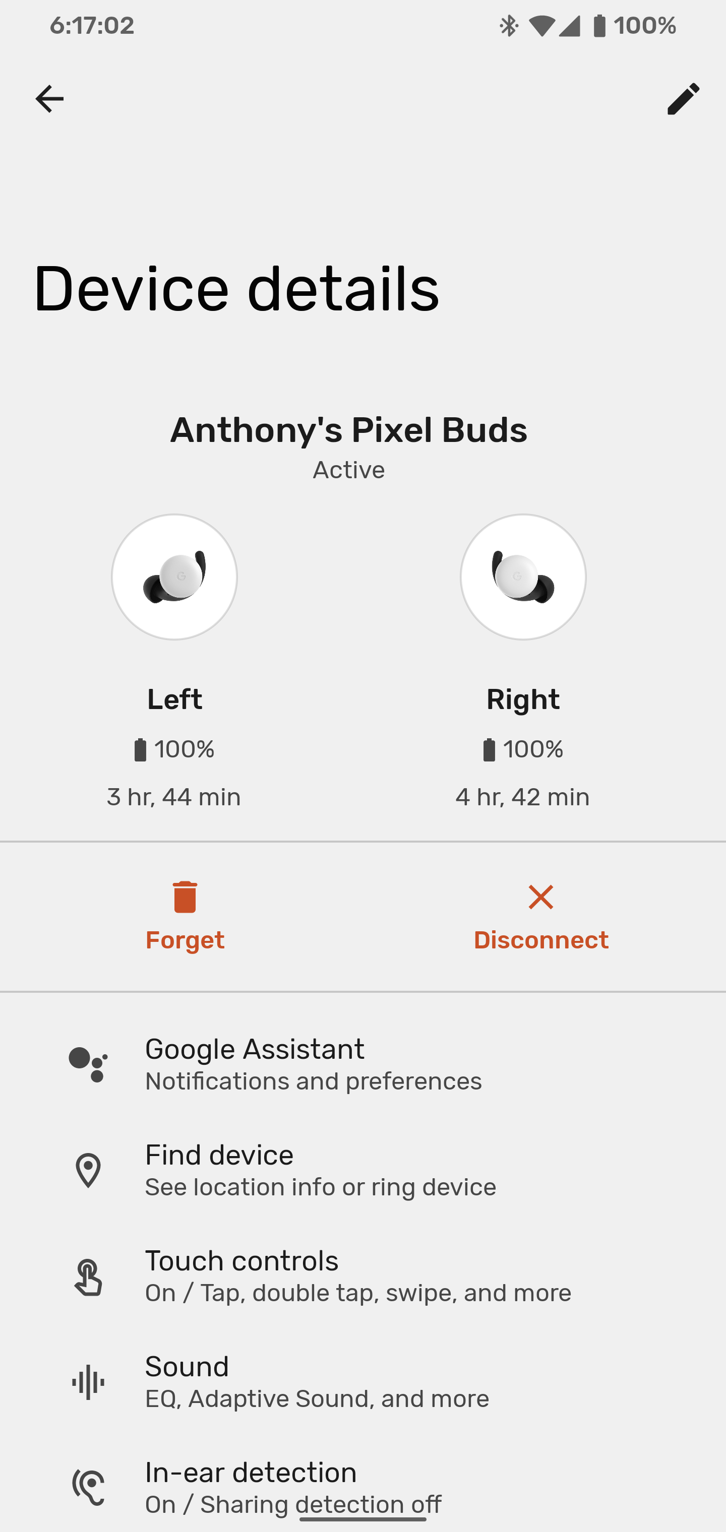 Pixel Buds battery hours