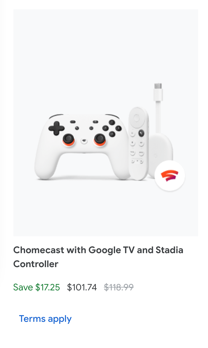 Chromecast Stadia Controller discount