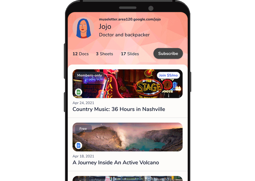 Google Area 120 Museletter