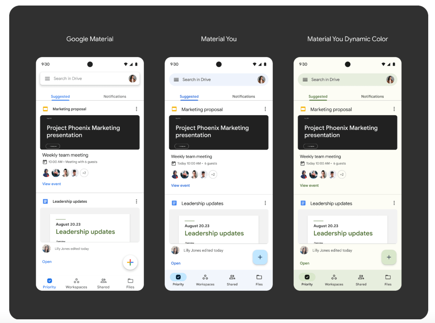 Material You Google Workspace