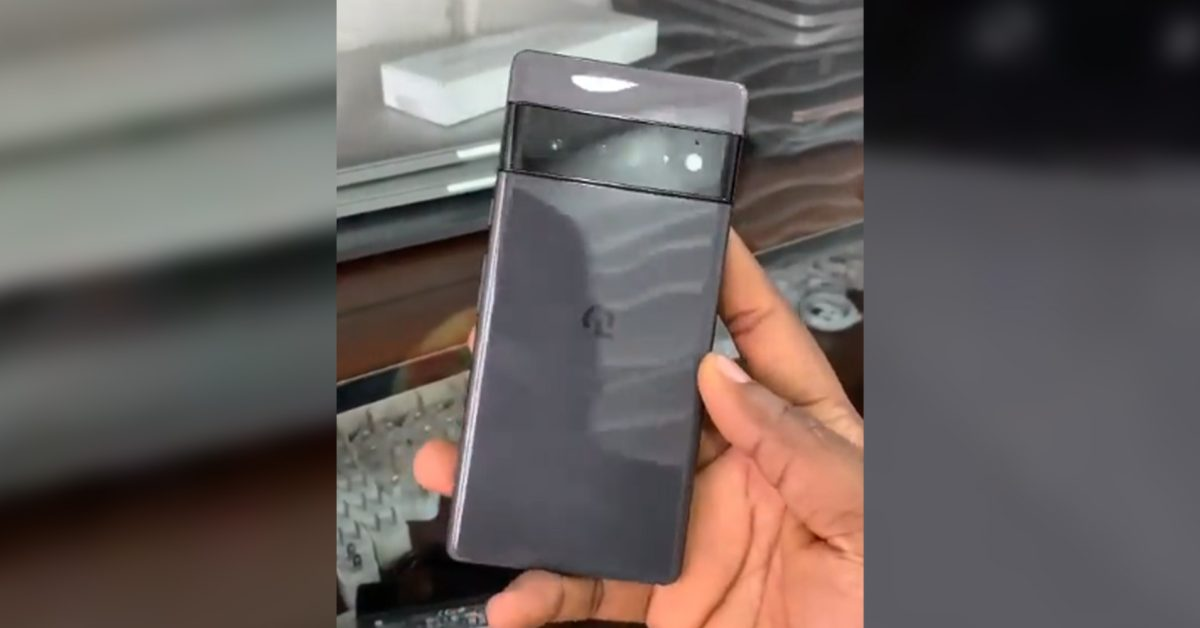 Pixel 6 Pro shows off its glossy black and gray finish in leaked hands-on video thumbnail