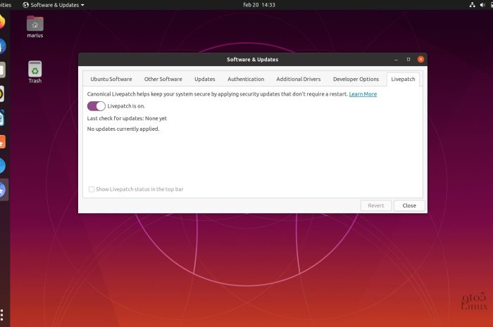 Kernel Live Patch Security Update Available for Ubuntu 18.04 LTS and 16.04 LTS