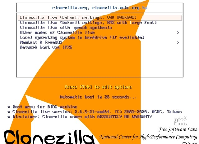 Clonezilla Live Switches to Linux 5.4 LTS, Adds Bluetooth Support