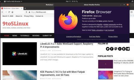 Firefox 75 beta