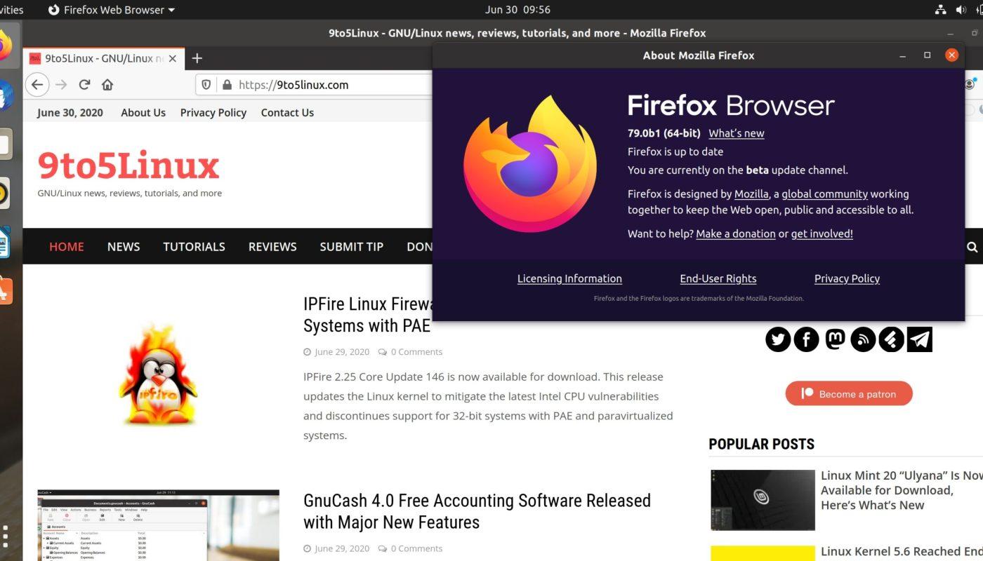 Firefox 79 Beta