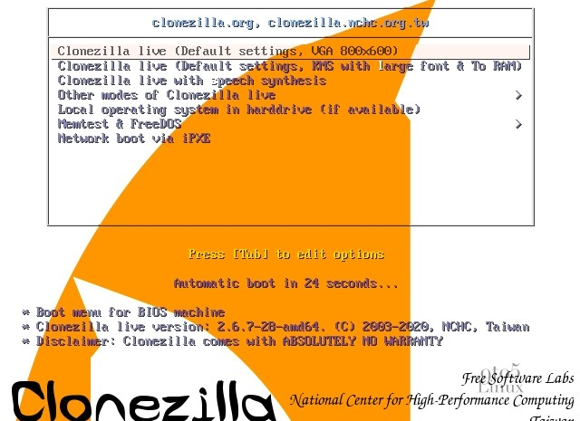 Clonezilla Live 2.6.7 Released with Linux Kernel 5.7 and Improved exFAT Support