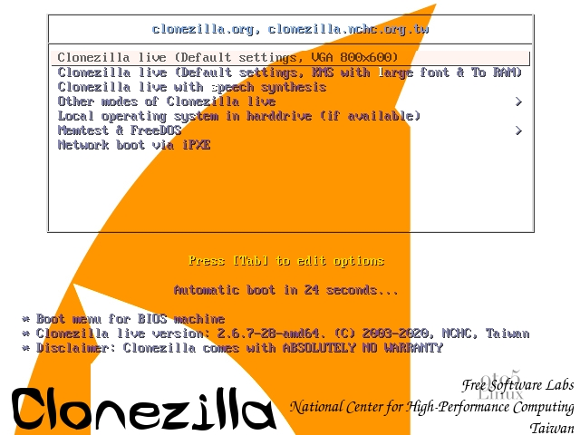 Clonezilla Live 2.6.7