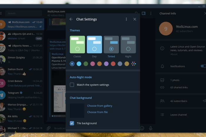 Telegram Desktop 2.2 Released with Auto-Night Mode, 2GB File Sharing, and More