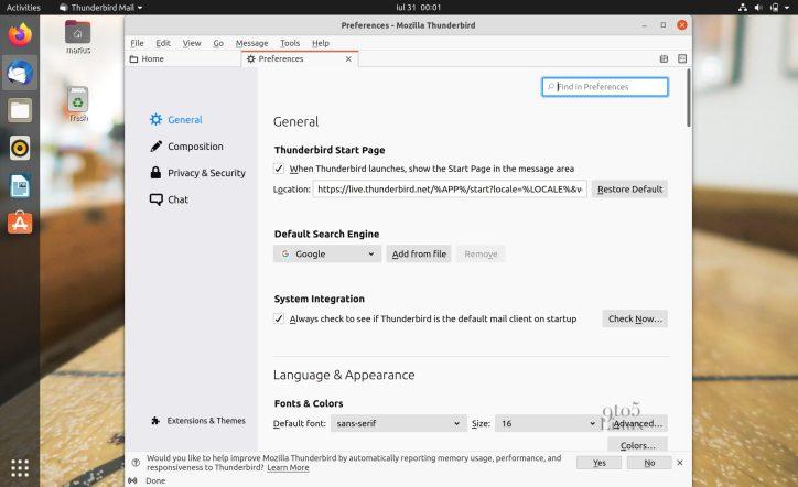 Mozilla Thunderbird 78.1