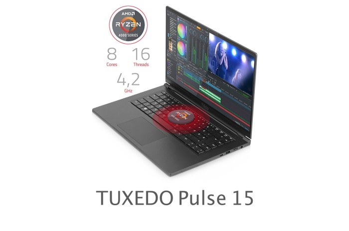TUXEDO Computers Unveils the TUXEDO Pulse 15 Linux Ultrabook with AMD Ryzen 4000H Series
