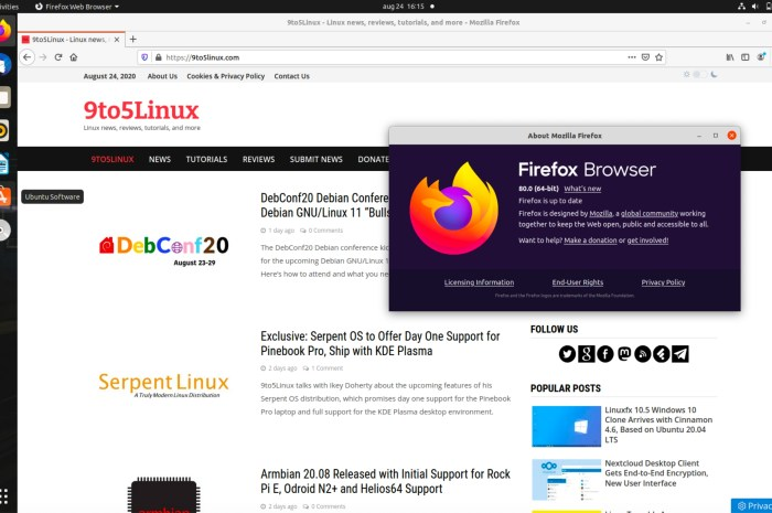 Mozilla Firefox 80 Is Now Available for Download with VAAPI Acceleration on X11