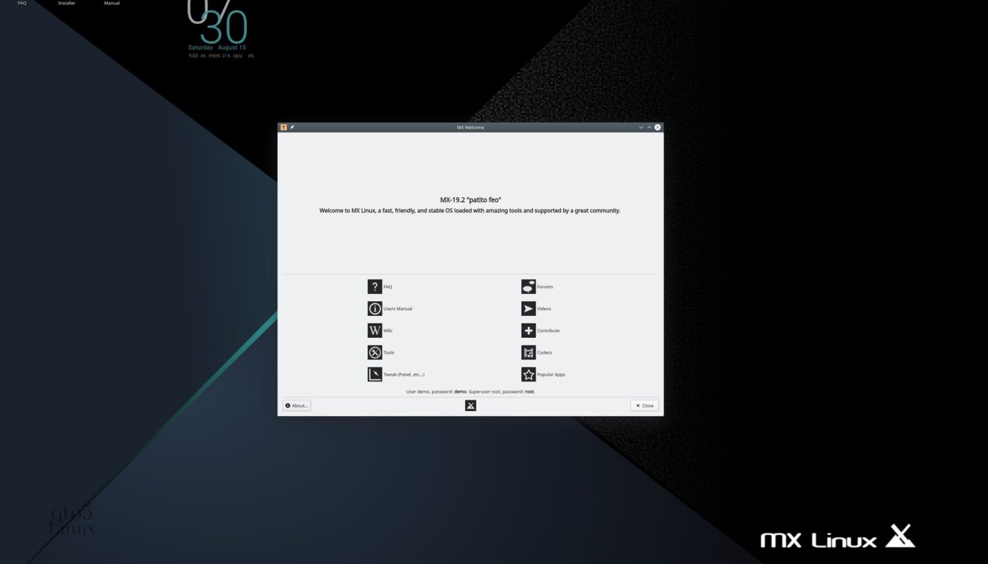 MX Linux 19.2 KDE Edition