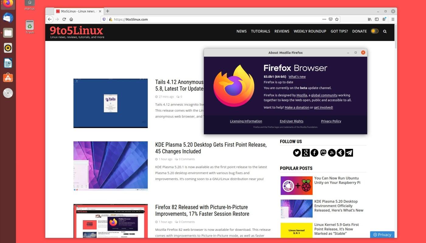 Firefox 83 beta