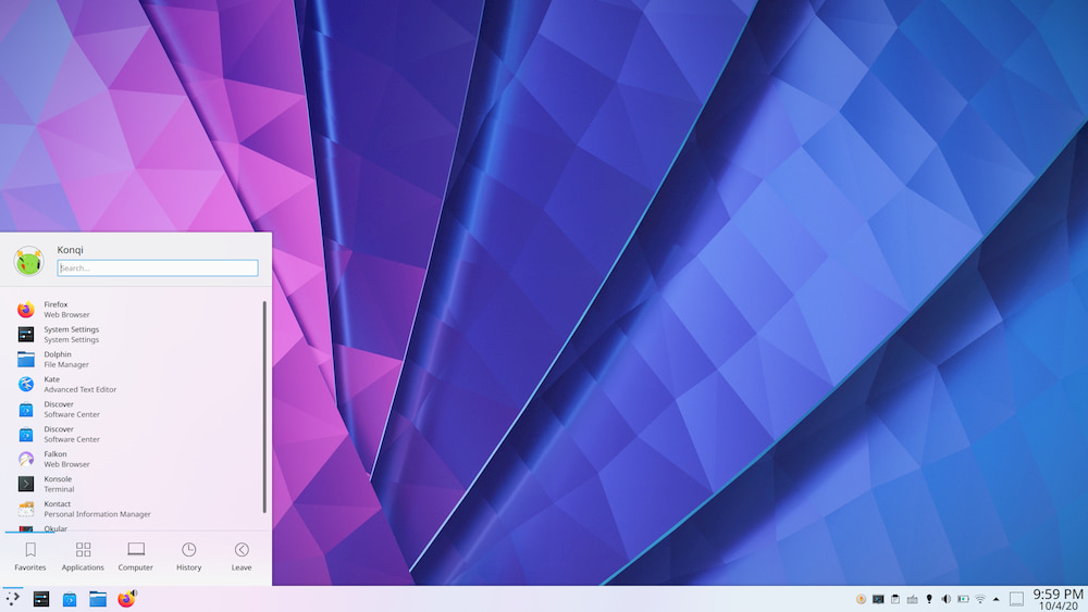 KDE Plasma 5.20