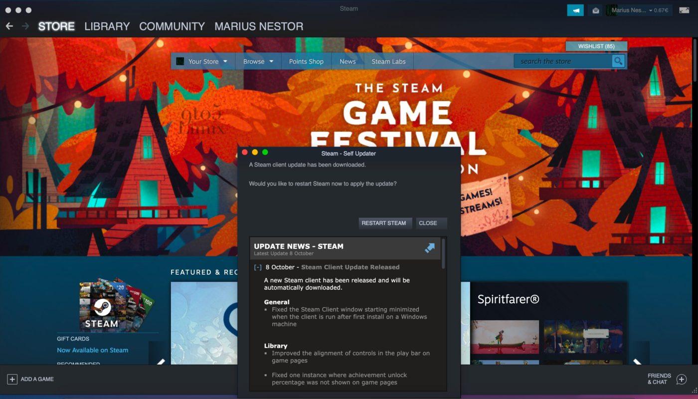 New Steam Client Update