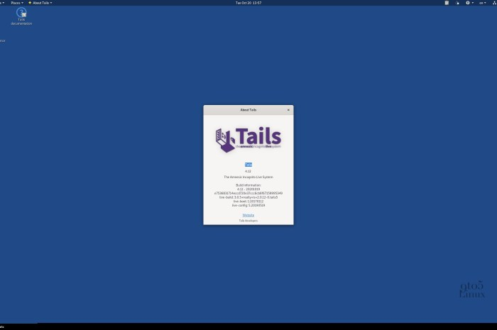 Tails 4.12 Anonymous OS Is Out with Linux Kernel 5.8, Latest Tor Updates
