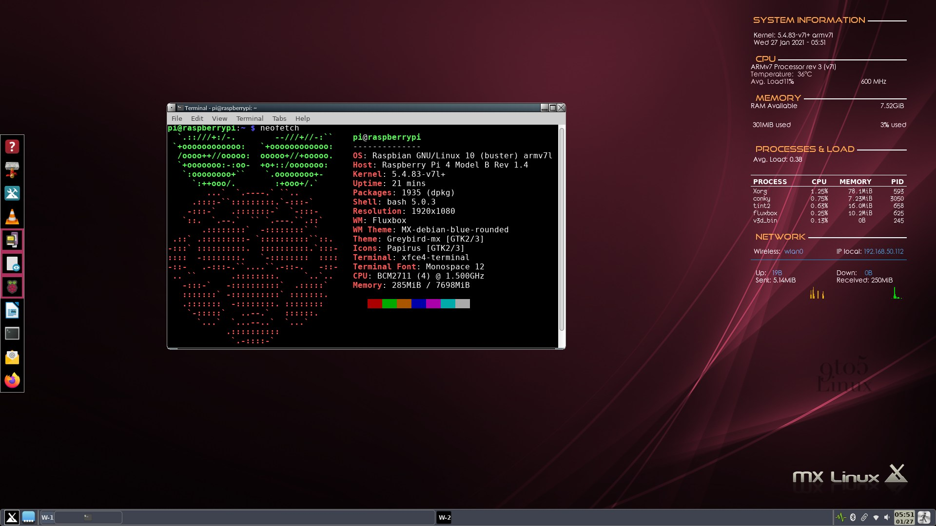 MX Linux Fluxbox Respin Officially Released for Raspberry Pi