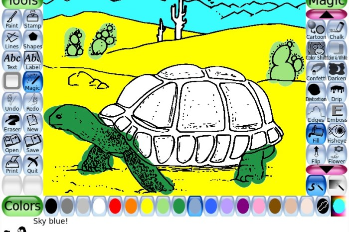 Tux Paint 0.9.25 Open Source Drawing Software for Kids Adds Animated GIF Export, More