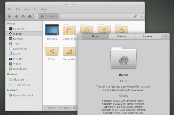 Xfce's Thunar File Manager Gets Split View, File Creation Times, and More