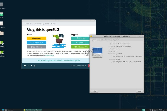 Xfce 4.16 Desktop Lands in openSUSE Tumbleweed, Download Now