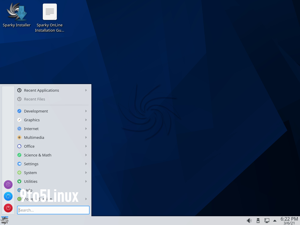 SparkyLinux KDE Plasma Edition