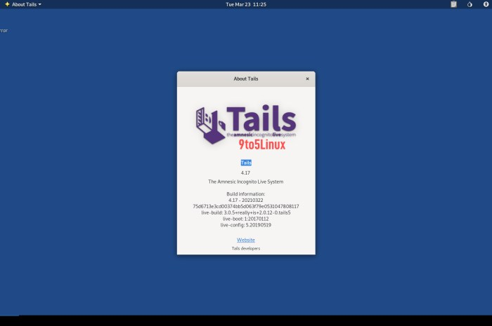 Tails 4.17 Anonymous OS Released with Automatic File System Repair During Boot