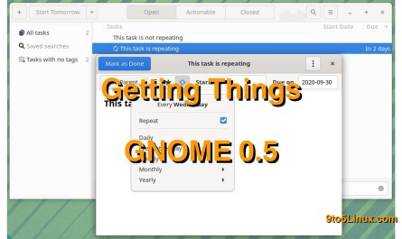 Getting Things GNOME 0.5