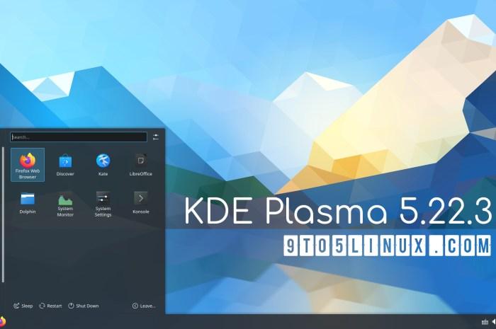 KDE Plasma 5.22.3 Improves Support for Flatpak Apps, Plasma Wayland, and More