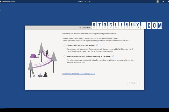 Tails 4.20 Anonymous OS Released with Brand-New Tor Connection Assistant