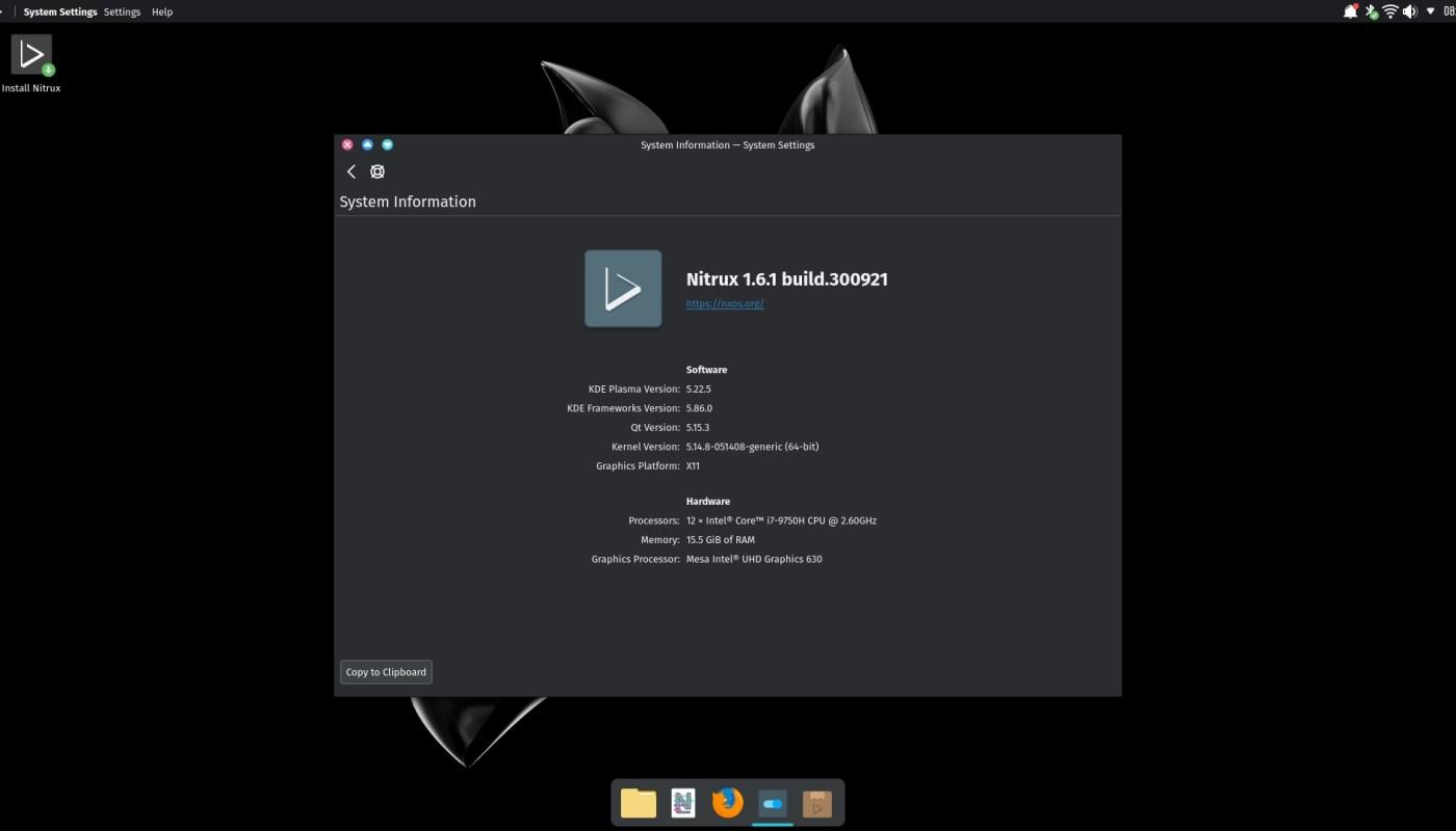 Nitrux 1.6.1