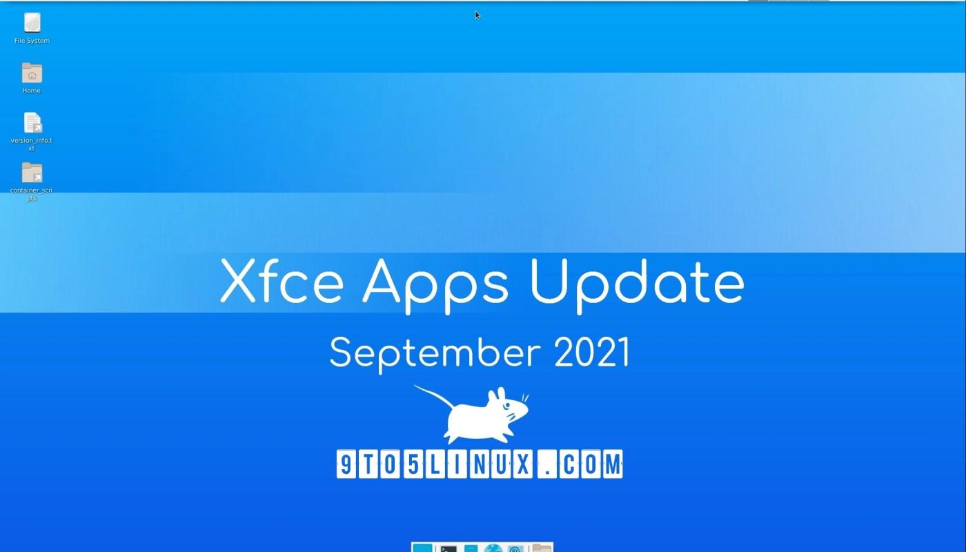Xfce's apps September 2021