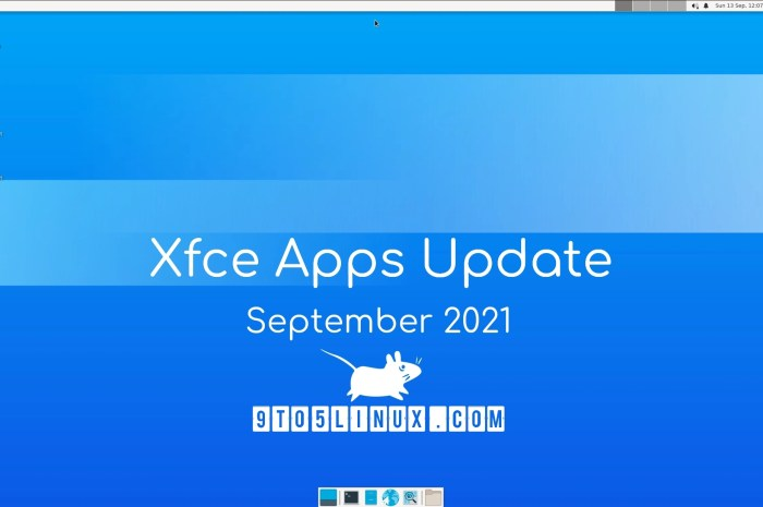 Xfce's Apps Update for September 2021: New Releases of Thunar, Mousepad, Whisker Menu