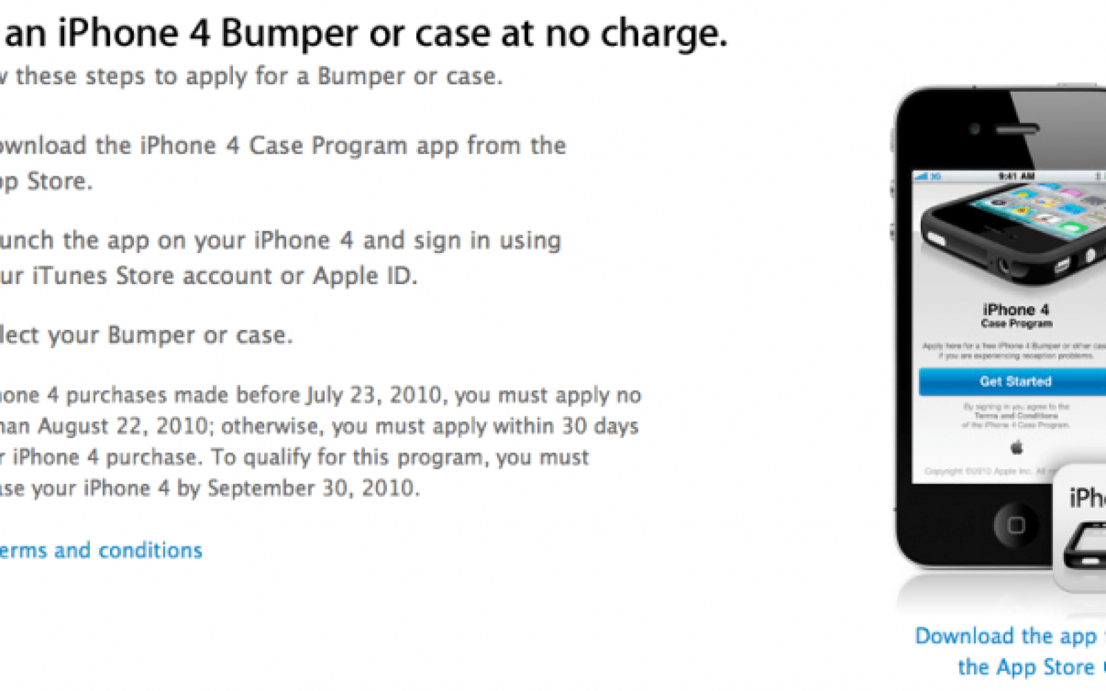 Apple iPhone 4 free bumper plan comes via app - 9to5Mac