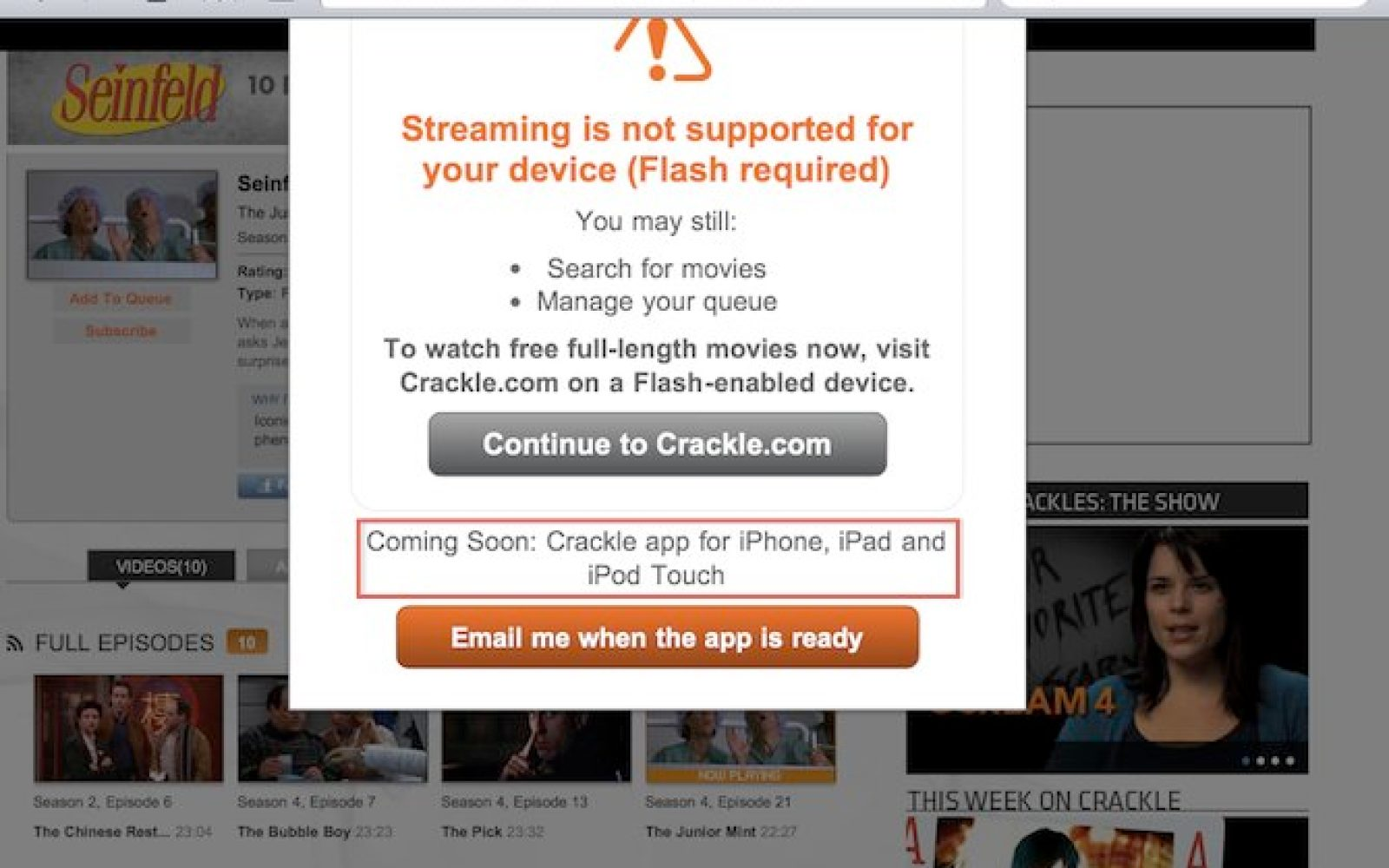 Sony to release Crackle iOS App, free access to tons of TV