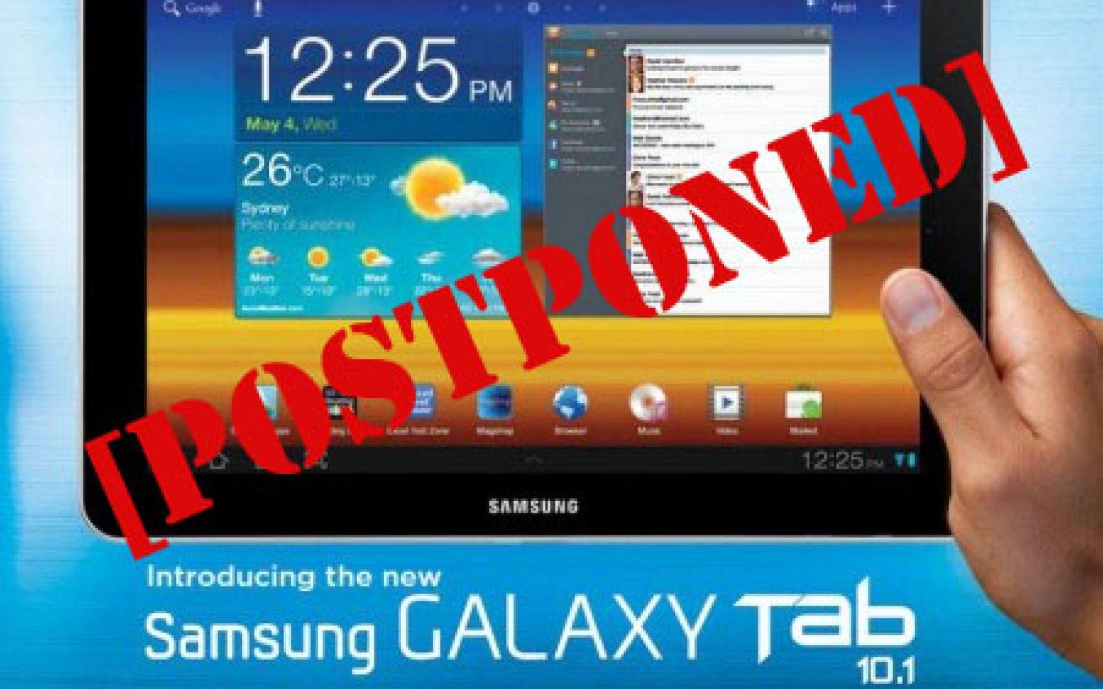Samsung confirms launch delay of Galaxy Tab 10 1 in Australia