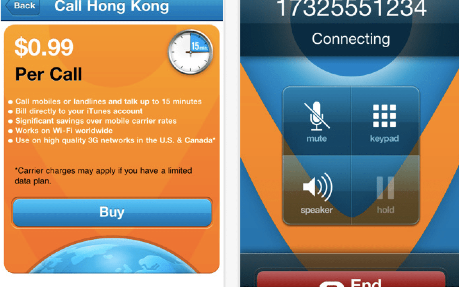 vonage releases time to call iphone app with low
